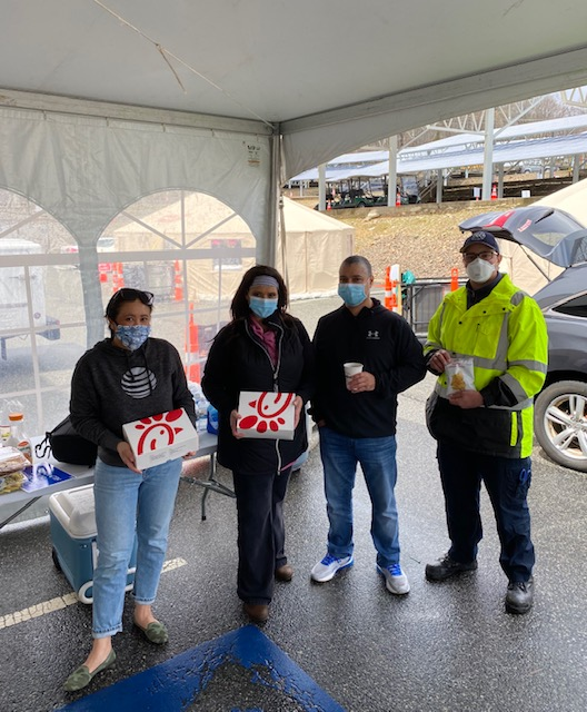 NJ Ability ERG serves lunch for volunteers at William Paterson Covid Testing site, Wayne, NJ - April, 18, 2020